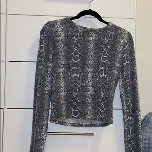 Zara snakeskin long sleeve